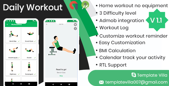 Daily Workouts - No Equipment Required - CodeCanyon Item for Sale