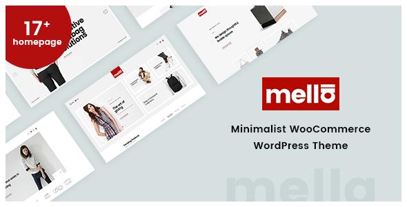 Mella - Minimalist Ajax WooCommerce WordPress Theme - WooCommerce eCommerce