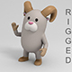 Rigged Cartoon Ram - 3DOcean Item for Sale