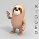 Rigged Cartoon Sloth - 3DOcean Item for Sale
