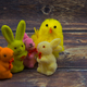 Easter composition decoration with chicken and bunnies - PhotoDune Item for Sale