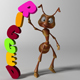Cartoon Ant RIGGED - 3DOcean Item for Sale