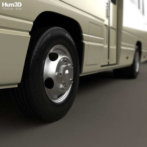 toyota coaster bus 1983 by humster3d