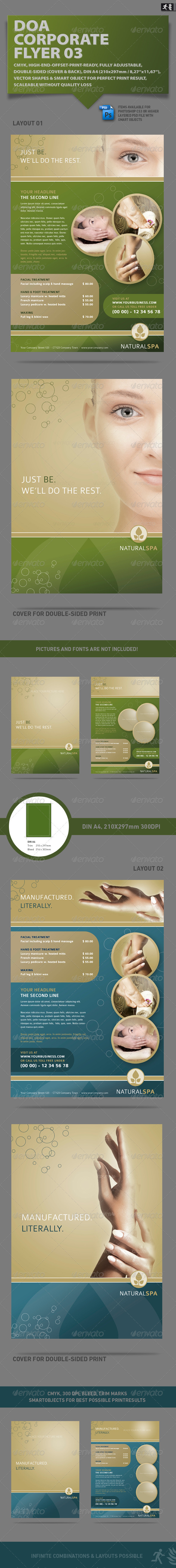 DOA Natural Spa Corporate Flyer - Corporate Flyers