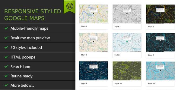 Responsive Styled Google Maps - WordPress Plugin - CodeCanyon Item for Sale