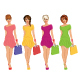 Modern Young Fashion Girl with Shopping Bags - GraphicRiver Item for Sale