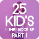 25 Kid's T-Shirt Mock-Up 2018 Part 1 - GraphicRiver Item for Sale
