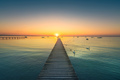 Garda lake, swans and jetty, sunset view from Pacengo Lazise. It - PhotoDune Item for Sale