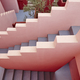 Geometric building stairs. The red wall, La manzanera. Calpe, Spain - PhotoDune Item for Sale