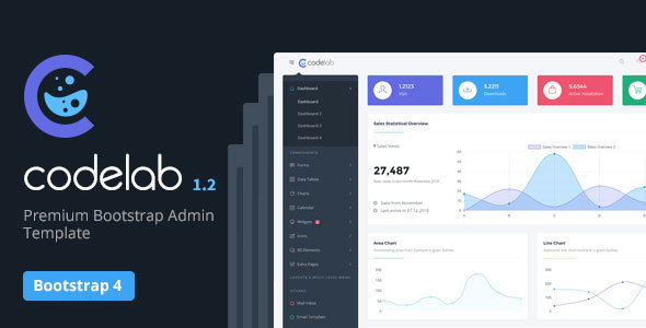 CodeLab - Ultimate Bootstrap 4 Admin Dashboard Template