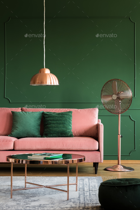 Enjoyable Copper Accents In Elegant Pastel Pink And Emerald Green Interior Gmtry Best Dining Table And Chair Ideas Images Gmtryco