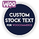 Custom Stock Text for WooCommerce - CodeCanyon Item for Sale