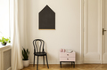Real photo of a living room interior with a chair, cabinet and h - PhotoDune Item for Sale