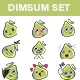 Cartoon Dim Sum Sticker Set - GraphicRiver Item for Sale