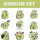 Cartoon Dim Sum Sticker Set - GraphicRiver Item for Sale