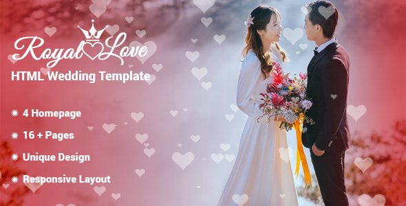 Royal Love - HTML Wedding Template