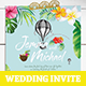 Hawaii Wedding Invitation Card - GraphicRiver Item for Sale