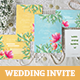 Summer Wedding Invitation Set - GraphicRiver Item for Sale