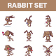 Rabbit Sticker Set - GraphicRiver Item for Sale