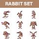 Rabbit Sticker Set - GraphicRiver Item for Sale