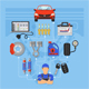 Car Service Infographics - GraphicRiver Item for Sale