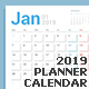 Calendar Planner Design. Week Starts Sunday. - GraphicRiver Item for Sale