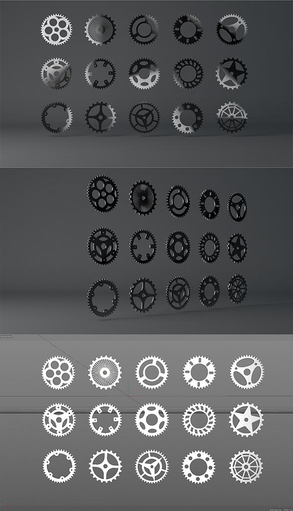Gear Pack - 3DOcean Item for Sale