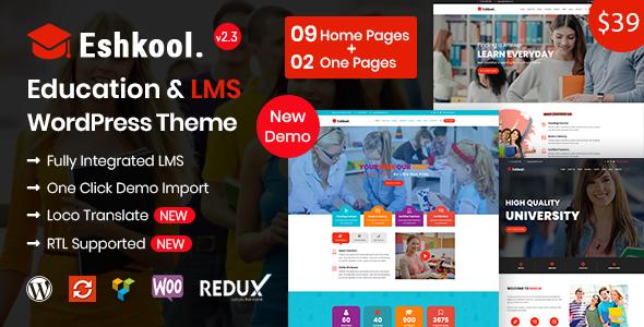 Eshkool Education - Education WordPress Theme - Education WordPress