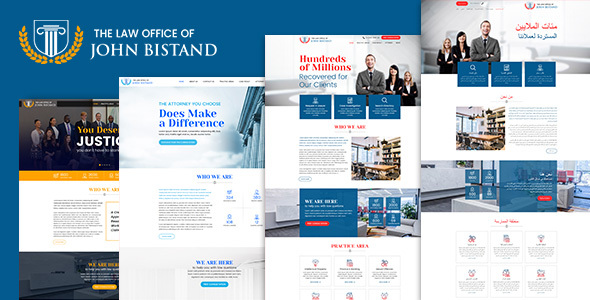 Law Firm – Responsive HTML5 Template - Corporate Site Templates