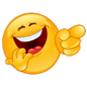 Laughing and Pointing Emoticon - GraphicRiver Item for Sale
