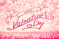 HAPPY VALENTINES DAY writing on glittery pink background. - PhotoDune Item for Sale