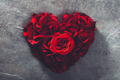 Red roses in heart shape - PhotoDune Item for Sale