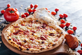 Pizza with meat spread, parmesan and blue cheese - PhotoDune Item for Sale