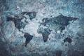 World map on grey stone background. - PhotoDune Item for Sale