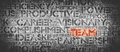 Red TEAM word surrounded by work-related words. - PhotoDune Item for Sale