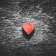 Red heart on black wooden background - PhotoDune Item for Sale