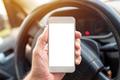 Using smartphone in car, mock up screen - PhotoDune Item for Sale
