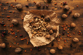 Ripe walnut fruit on table, top view - PhotoDune Item for Sale