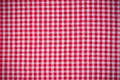 Empty red checkered kitchen linen or cloth - PhotoDune Item for Sale