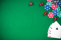 Casino and poker games, green cloth border bacground - PhotoDune Item for Sale