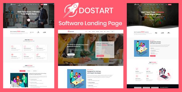 Dostart - Startup Landing Page