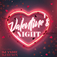 Valentine Night Party Flyer - GraphicRiver Item for Sale