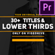 Modern Business Titles And Lower Third - VideoHive Item for Sale