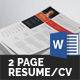 Clean Resume/CV (2 Page) - GraphicRiver Item for Sale