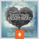 Feel The Heartbeat - Music Album Cover Artwork Template - GraphicRiver Item for Sale