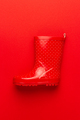 Photo of Red Gumboot - PhotoDune Item for Sale