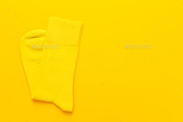 Pair of Yellow Socks - Stock Photo - Images