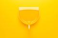Plastic Dustpan on Yellow Background - PhotoDune Item for Sale