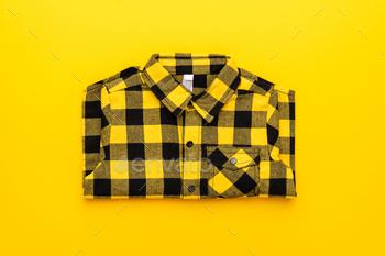 Yellow and Black Checkered Shirt