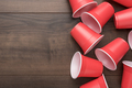Red Plastic Cups on Table - PhotoDune Item for Sale